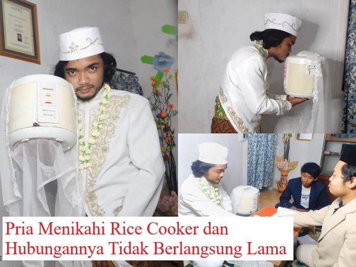Pria Menikahi Rice Cooker dan Hubungannya Tidak Berlangsung Lama